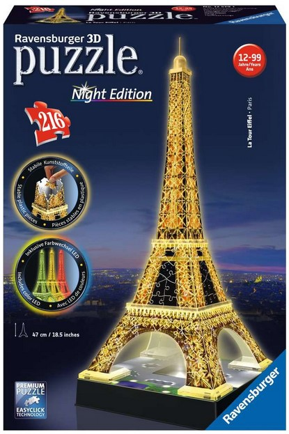 Ravensburger 3D Puzzle Night Edition Eiffelturm
