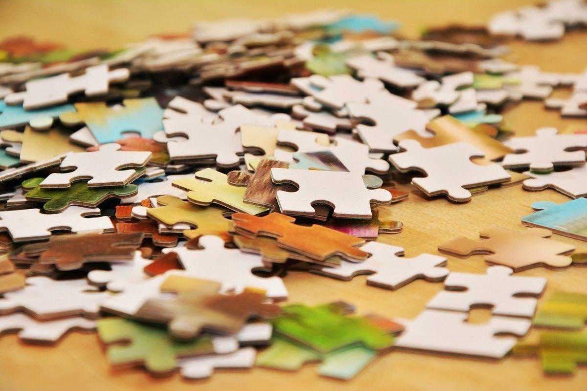 klassisches Puzzle mit 1000 Teilen