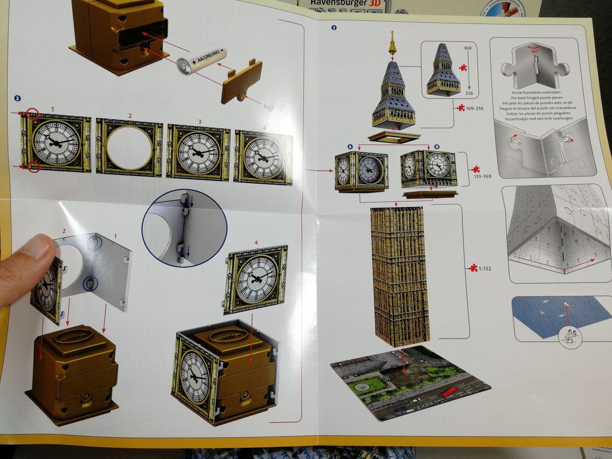 Anleitung Ravensburger Big Ben 3D Puzzle