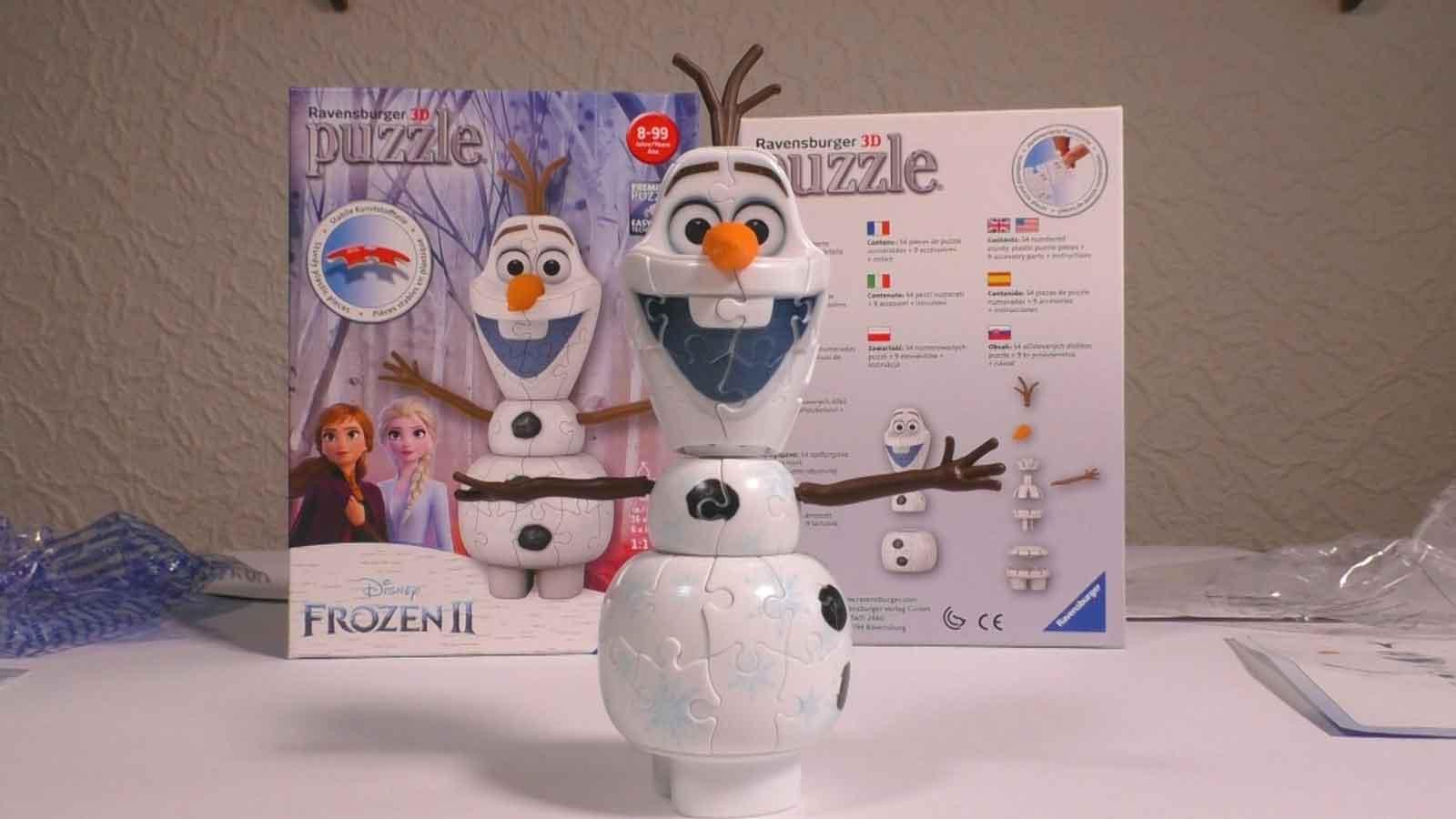 Ravensburger 3D Puzzle Olaf fertig gepuzzelt